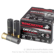 25 Rounds of 1 1/4 ounce #4 shot 12ga Ammo by Winchester Drylok Super Steel High Velocity