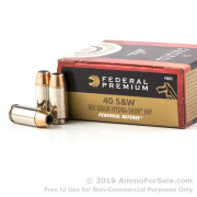 500 Rounds of 180gr JHP .40 S&W Ammo by Federal Hydra Shok
