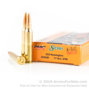 20 Rounds of 77gr OTM .223 Ammo by PMC