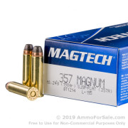 1000 Rounds of 158gr SJSP .357 Mag Ammo by Magtech