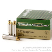 500  Rounds of 125gr JHP .357 Mag Ammo by Remington