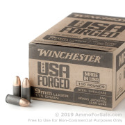 750 Rounds of 115gr FMJ 9mm Ammo by Winchester Forged