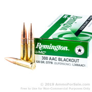 20 Rounds of 120gr OTM .300 AAC Blackout Ammo by Remington