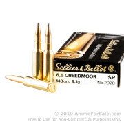 20 Rounds of 140gr SP 6.5 Creedmoor Ammo by Sellier & Bellot