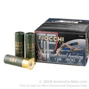 "25 Rounds of 3"" 1 1/8 ounce #2 Speed Steel Shot 12ga Ammo by Fiocchi"