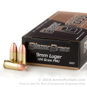 1000 Rounds of 124gr FMJ 9mm Ammo by Blazer Brass