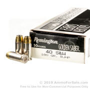 500 Rounds of 180gr BJHP 40 S&W Ammo by Remington