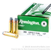 50 Rounds of 125gr SJHP .38 Spl Ammo by Remington