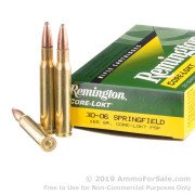 200 Rounds of 165gr PSP 30-06 Springfield Ammo by Remington
