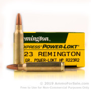 200 Rounds of 55gr PLHP .223 Ammo by Remington