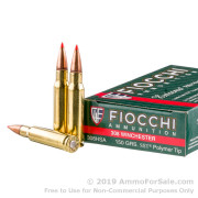 200 Rounds of 150gr SST Polymer Tip .308 Win Ammo by Fiocchi