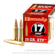 50 Rounds of 20gr JHP .17HMR Ammo by Hornady