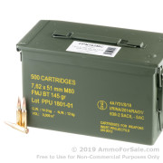 500 Rounds of 145gr FMJBT 7.62x51mm Win Ammo by Prvi Partizan