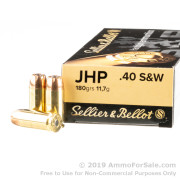 50 Rounds of 180gr JHP 40 S&W Ammo by Sellier & Bellot