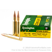 20 Rounds of 180gr PSP 30-06 Springfield Ammo by Remington