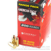 200 Rounds of 230gr FMJ 45 ACP Ammo by Federal