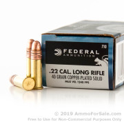 5000 Rounds of 40gr CPRN 22 LR Ammo by Federal
