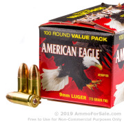 500  Rounds of 115gr FMJ 9mm Ammo by Federal