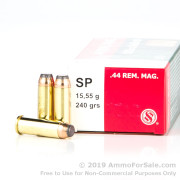 50 Rounds of 240gr SP .44 Mag Ammo by Sellier & Bellot