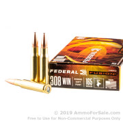 20 Rounds of 165gr Fusion .308 Win Ammo by Federal