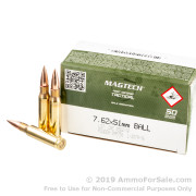 400 Rounds of 147gr FMJ M80 7.62x51mm Ammo by Magtech