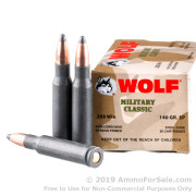 20 Rounds of 140gr SP .308 Win Ammo by Wolf