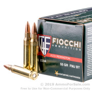 50 Rounds of 55gr FMJ .223 Ammo by Fiocchi