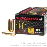 500  Rounds of 130gr FMJ .38 Spl Ammo by Winchester Train & Defend