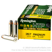 50 Rounds of 110gr SJHP .357 Mag Ammo by Remington