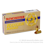 50 Rounds of 165gr JHP .40 S&W Ammo by Winchester Ranger Bonder