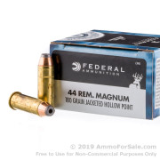 20 Rounds of 180gr JHP .44 Mag Ammo by Federal Power-Shok
