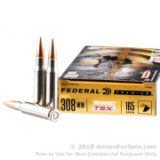 20 Rounds of 165gr TSX Barnes .308 Win Ammo by Federal