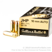 1000 Rounds of 180gr JHP 10mm Ammo by Sellier & Bellot
