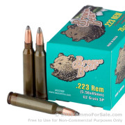 20 Rounds of 62gr SP .223 Ammo by Brown Bear