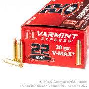 200 Rounds of 30gr V-MAX 22 WMR Ammo by Hornady