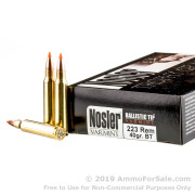 20 Rounds of 40gr Polymer Tip .223 Ammo by Nosler Ammunition