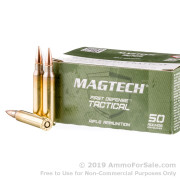 50 Rounds of 62gr FMJ 5.56x45 Ammo by Magtech