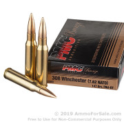 20 Rounds of 147gr FMJBT .308 Win Ammo by PMC