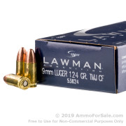 1000 Rounds of 124gr TMJ 9mm Ammo by Speer
