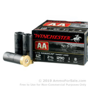 25 Rounds of 1 ounce #8 shot 12ga Ammo by Winchester AA Lite Handicap