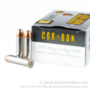 20 Rounds of 110gr JHP .357 Mag Ammo by Corbon