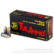 50 Rounds of 92gr FMJ 9x18mm Makarov Ammo by Tula