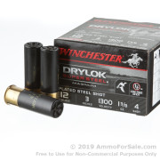25 Rounds of 1 3/8 ounce #4 shot 12ga Ammo by Winchester Winchester Drylok Super Steel Magnum