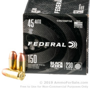 600 Rounds of 230gr FMJ .45 ACP Ammo by Federal