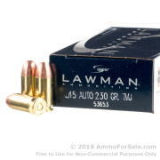 50 Rounds of 230gr TMJ .45 ACP Ammo by Speer