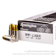 50 Rounds of 147gr BJHP 9mm Ammo by Remington