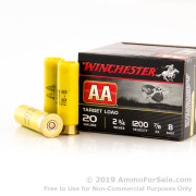 25 Rounds of 7/8 ounce #8 shot 20ga Ammo by Winchester