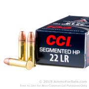 500 Rounds of 32gr Segmented HP .22 LR Ammo by CCI
