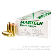 50 Rounds of 180gr FEB .40 S&W Ammo by Magtech CleanRange