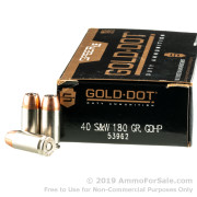50 Rounds of 180gr JHP .40 S&W Ammo by Speer